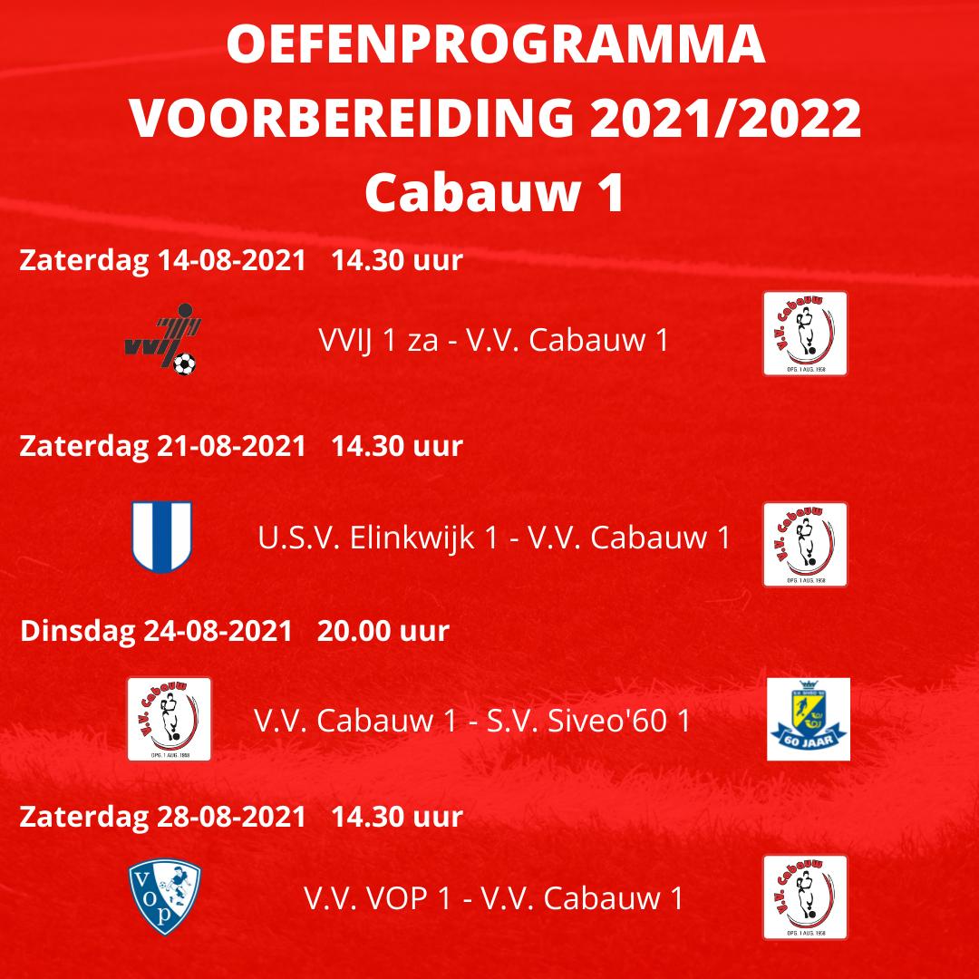 Oefenprogramma Cabauw 1